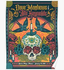 Dave Matthews Band 14. Januar 2018 Riviera Maya, Mexiko Poster