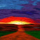Picture 2015067 Justin Beck Glowing Sunset by Justin Beck