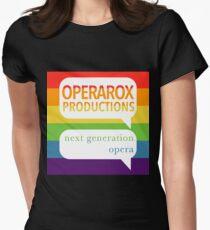 OperaRox Productions Rainbow Logo Women's Fitted T-Shirt