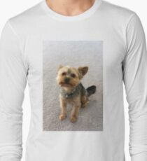 Yorkie Natural Long Sleeve T-Shirt