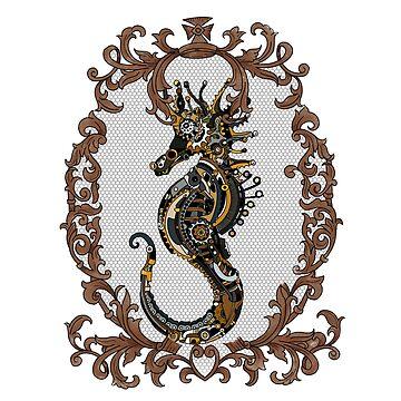 Ornate steampunk seahorse by paviash