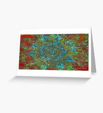 Picture 2015071 Justin Beck Abstract Flower Greeting Card