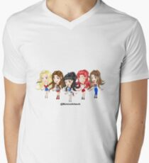 Anime Red Velvet K-Pop Men's V-Neck T-Shirt