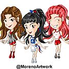 Anime Red Velvet K-Pop by Moreno Artwork
