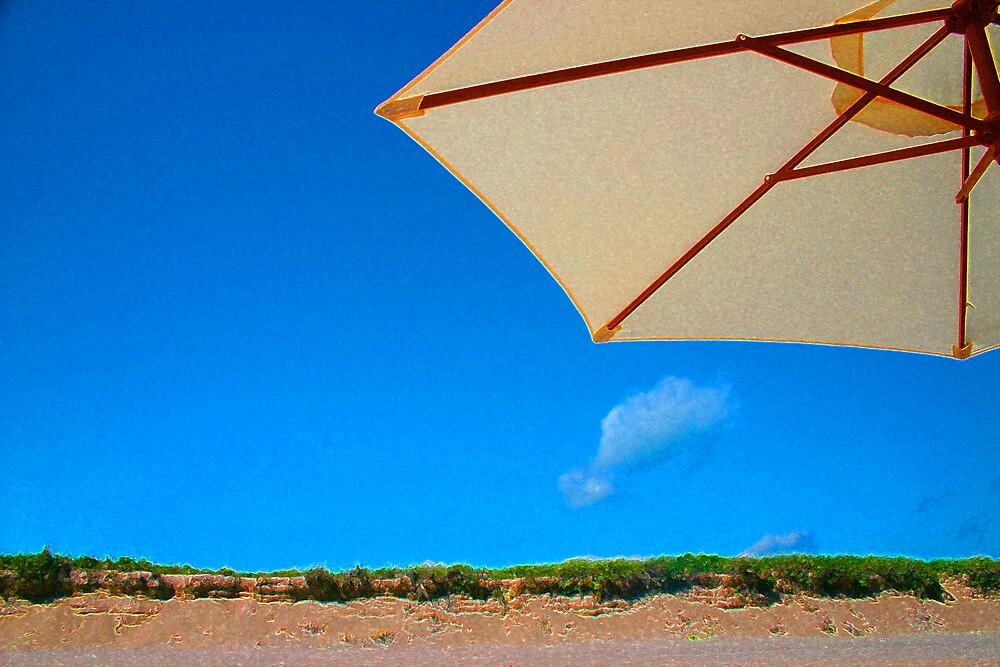 umbrella beach by Sol Whiteley