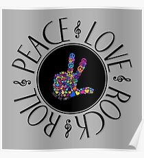 peace and love and rock and roll  Poster