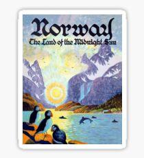 Norway, the land of the midnight sun Sticker