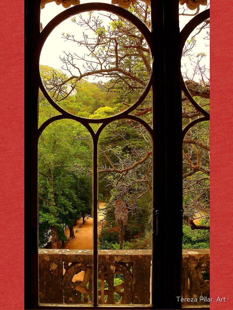 put your hand on my shoulder....at Quinta da Regaleira. by terezadelpilar