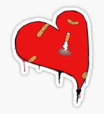 Heart and cigarette Sticker