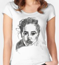 Woman Women's Fitted Scoop T-Shirt