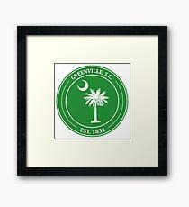 Greenville Palmetto Tree Framed Print