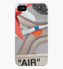 """THE 10: AIR JORDAN 1 """"OFF-WHITE"""" - WHITE iPhone Case 2018 iPhone 4s/4 Case"""