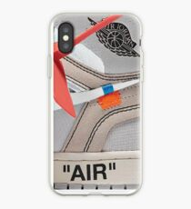 "THE 10: AIR JORDAN 1 ""OFF-WHITE"" - WHITE iPhone Case 2018 iPhone Case"