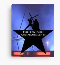 Star Wars - Hamilton Mashup: 10 Duel Commandments Canvas Print