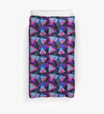Cool Triangle 90s Print Duvet Cover