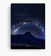 Thumb Butte Dripping in Milk Canvas Print
