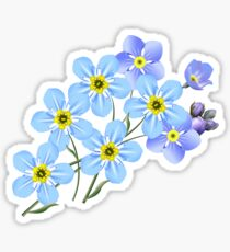 FORGET ME NOTS FLOWERS FLORAL Sticker