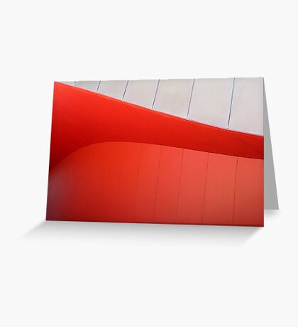 Red Curves Greeting Card