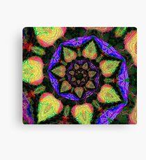 Neon Fractal Spiral Canvas Print