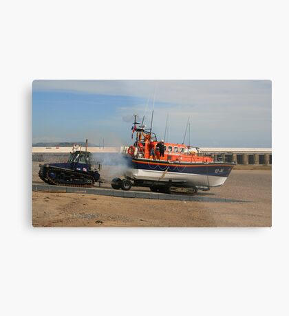 Launching The Ramsey Lifeboat Metal Print