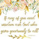 Wenn jemand von Ihnen Weisheit braucht Bibelvers Kunst von PraiseQuotes