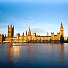 The Houses of Parliament, Westminster, London, England. by Teddy  Sugrue