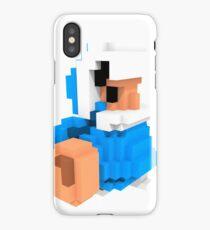 Ice climber Voxel art amiibo iPhone Case