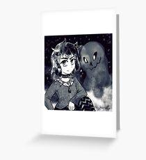 Goth Demon Cutie Greeting Card