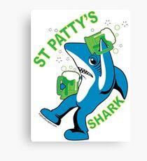 St. Patty's Left Shark  Canvas Print