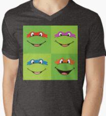 TMNT Teenage Mutant Ninja Turtles Leonardo Michaelangelo Donatello Raphael Mikey Green T-Shirt