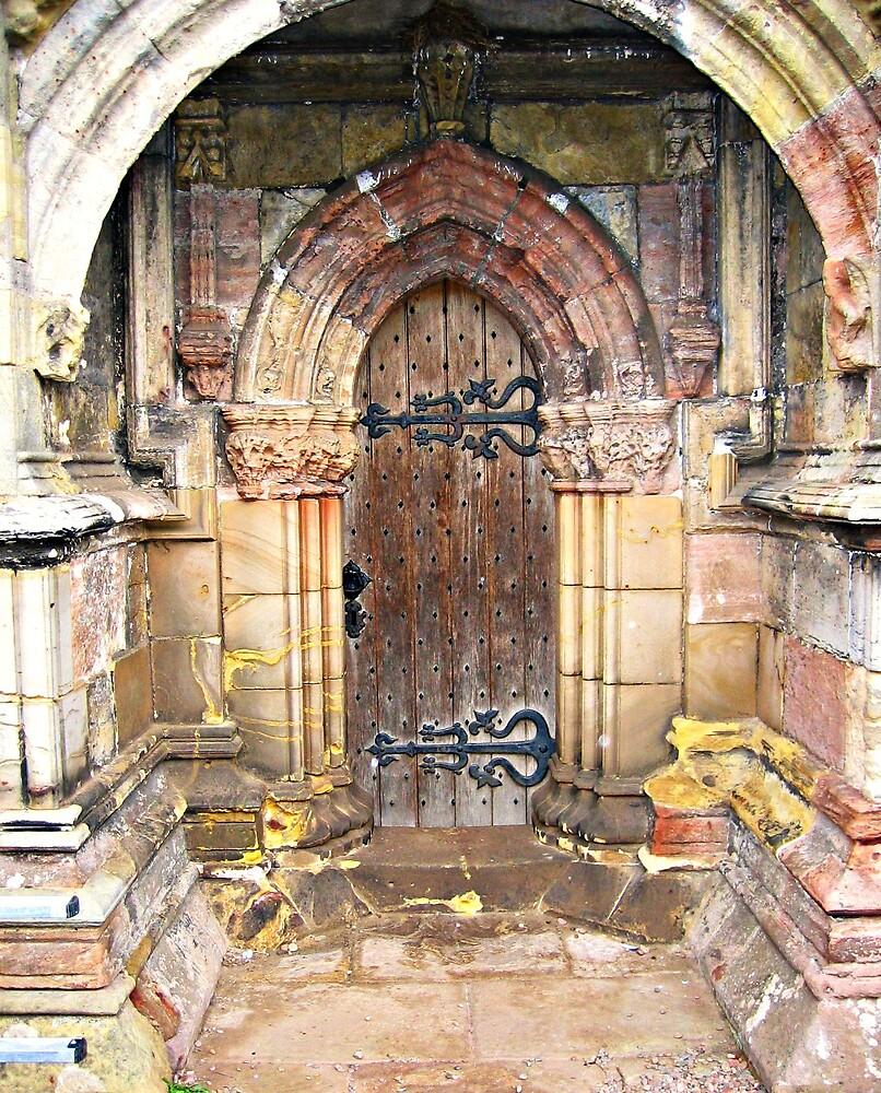 Scotland, Rosslyn Chapel Door by MIKEF