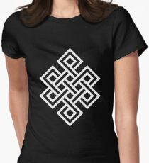 Endless Knot White Women's Fitted T-Shirt