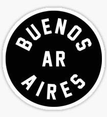 Buenos Aires - Argentina - Black Circle Sticker