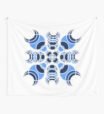 #6 Blue Geometric Circles Design  Wall Tapestry