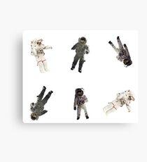 Astronauts Sticker Set Canvas Print