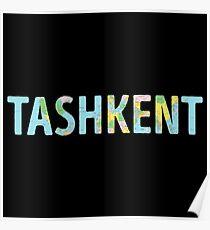 Tashkent World Map - Cool Uzbekistan Traveler Gift Poster