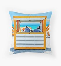 Working the beach...! Throw Pillow