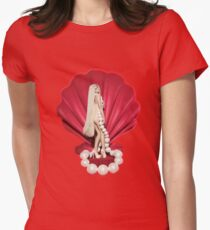 Pearl In The Crimson Shell Women's Fitted T-Shirt