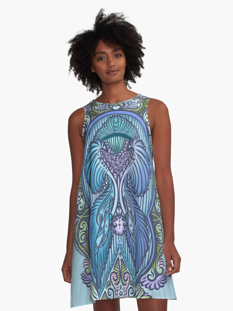 Eternal birth, new age, bohemian A-Line Dress Front