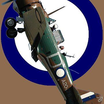 Pacific WW2 RAAF Roundel Ca-16 Wirraway VH-AGH Design by muz2142