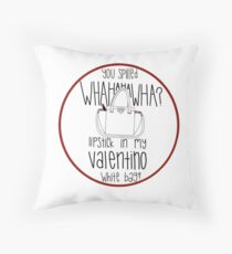 f12bdc4638d1 WHAHHAHAWAHHA lipstick in my valentino white bag  (vine) Throw Pillow