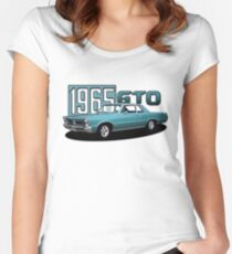 1965 Pontiac GTO 400 Classic Muscle Car Women's Fitted Scoop T-Shirt