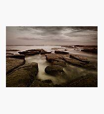 Bar Beach Rock Platform Photographic Print