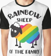 Rainbow Sheep Of The Family LGBT Pride Graphic T-Shirt