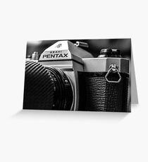 Pentax film Camera Greeting Card