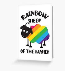 Regenbogen-Schafe der Familie LGBT Pride Grußkarte