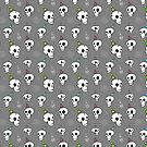 Party Never Ends - Skull Pattern by Vena Carr
