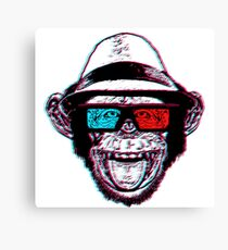 """HIPSTER CHIMP - AKA """"THE CHIMPSTER"""" Canvas Print"""