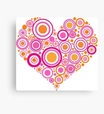 Heart For Valentine Day Canvas Print