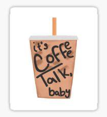 zane and heath's coffee talk sticker Sticker